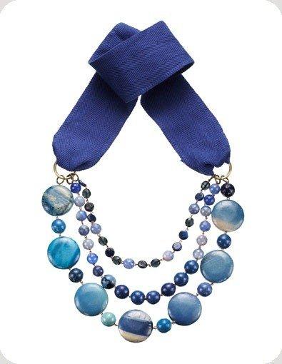 Dal design creativo di federica torricelli nascono collane fatte di perle nastri e pietre - Collane di design ...