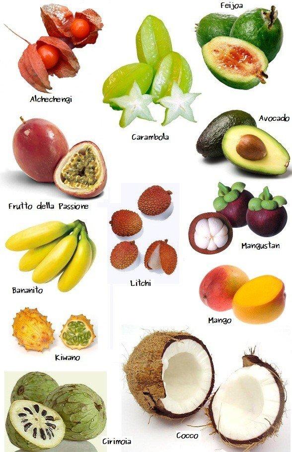 Frutti esotici pi li conosci pi li mangi e pi ti for Elenco alberi da frutto