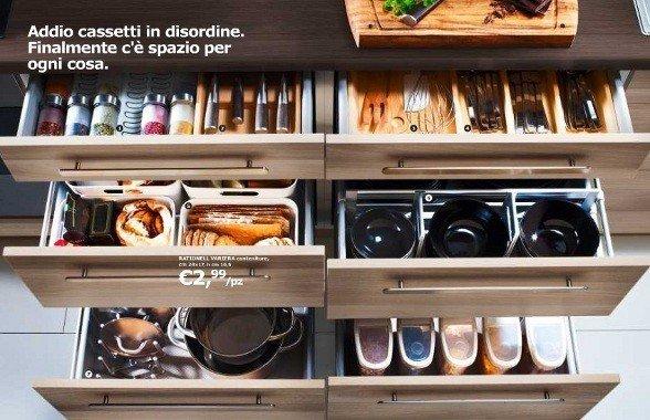 Accessori cassetti cucina cool cestino appendibile per - Guide per cassetti ikea ...