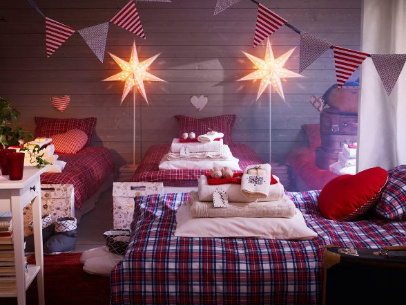 Natale ikea idee e suggerimenti per la tua casa rose in for Decorazioni casa natale