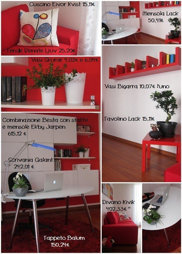 Come arredare lo studio con i mobili ikea rose in the wind for Arredare con ikea