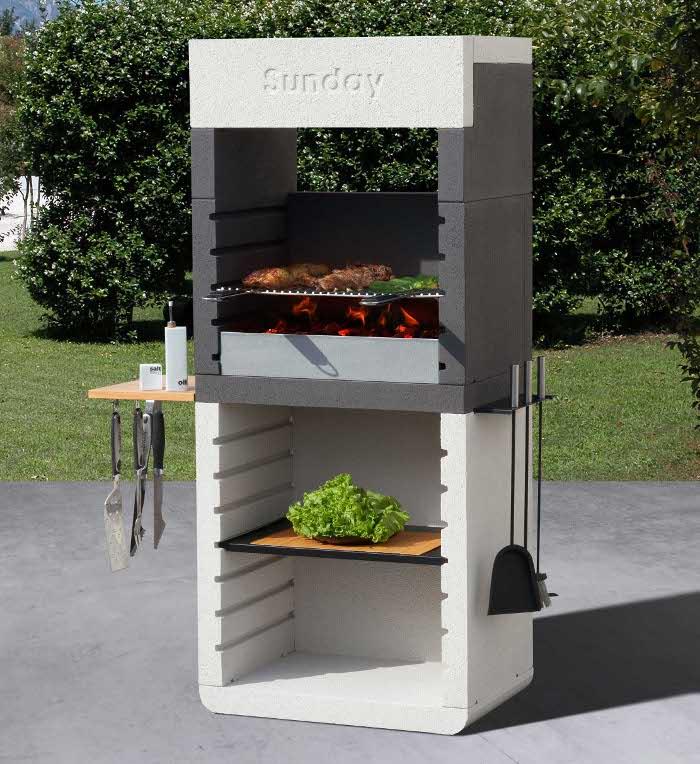 sunday one il rivoluzionario barbecue in muratura dal. Black Bedroom Furniture Sets. Home Design Ideas