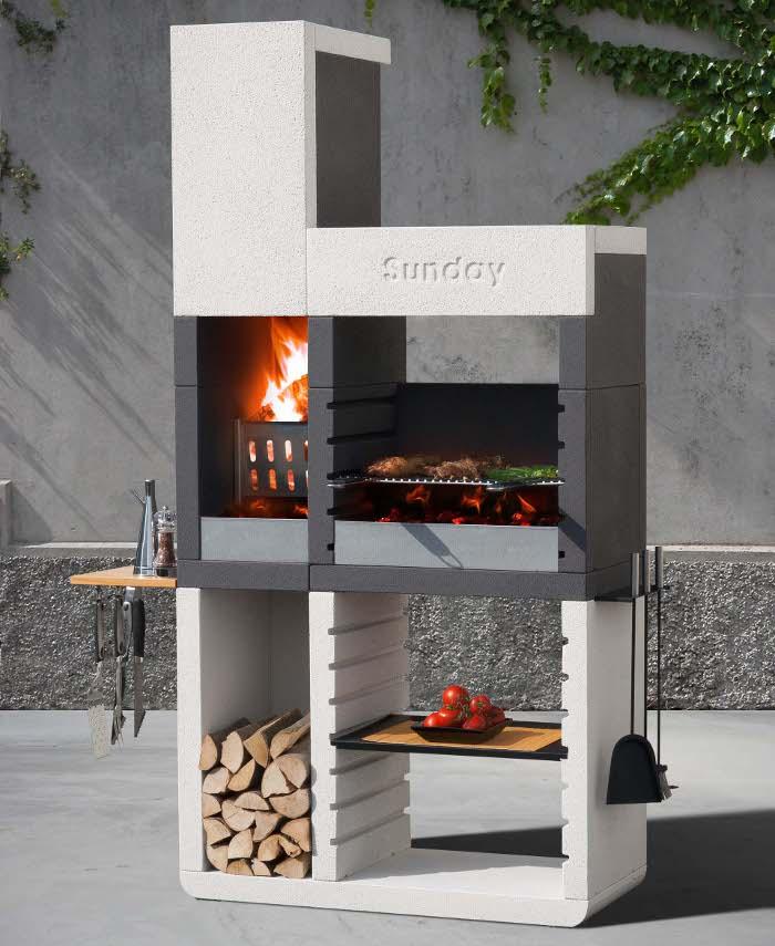 sunday one il rivoluzionario barbecue in muratura dal design moderno rose in the wind. Black Bedroom Furniture Sets. Home Design Ideas