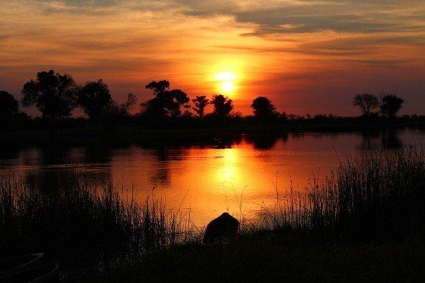 tramonto okavango