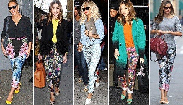 celebrities-pantaloni-floreali