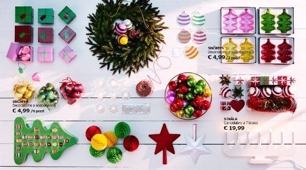 Natale 2013 regali decorazioni e addobbi ikea rose in for Ikea decorazioni