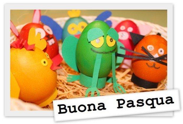Decorazioni di pasqua le uova a forma di animali rose - Uova di pasqua in casa ...