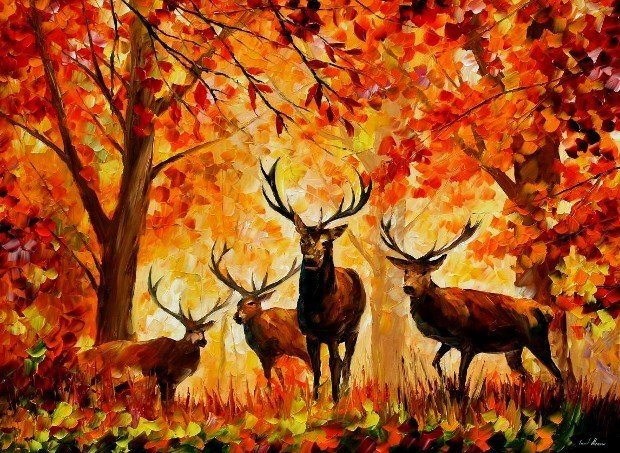deers-by-leonid-afremov