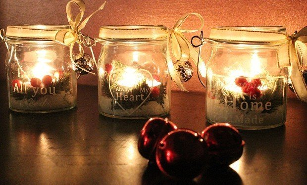Decorare Candele Natale : Decorazioni natale fai da te le candele in vaso rose in the wind