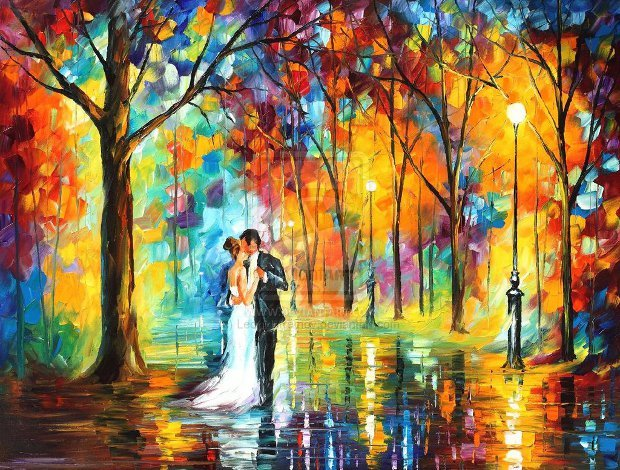 rainy_wedding_by_leonid_afremov