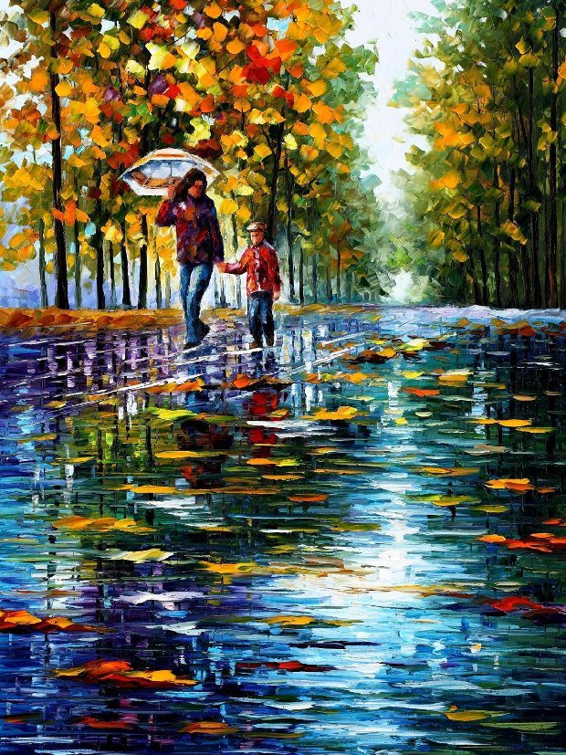 stroll-in-autumn-park-leonid-afremov