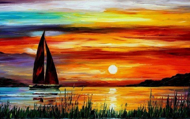 sunrset-by-leonid-afremov