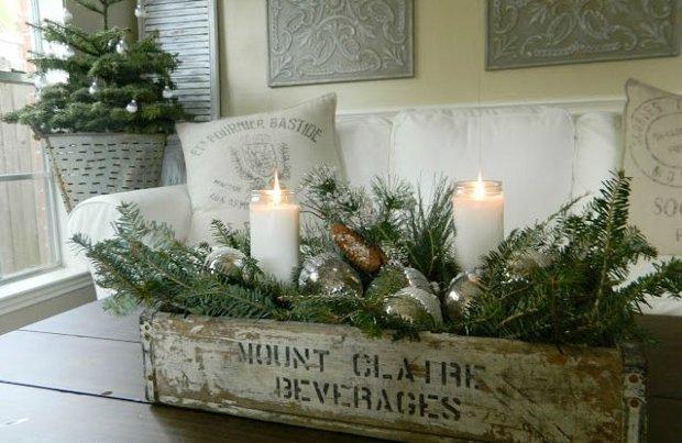Decorazioni natalizie rose in the wind - Decorazioni con candele ...