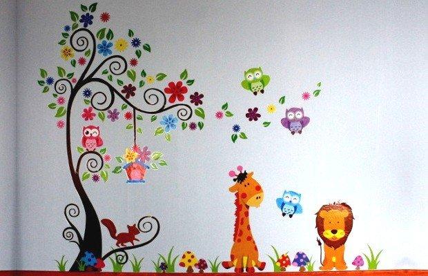 Adesivi murali per bambini 20 idee da acquistare online rose in the wind - Decorazioni murali per camerette bambini ...