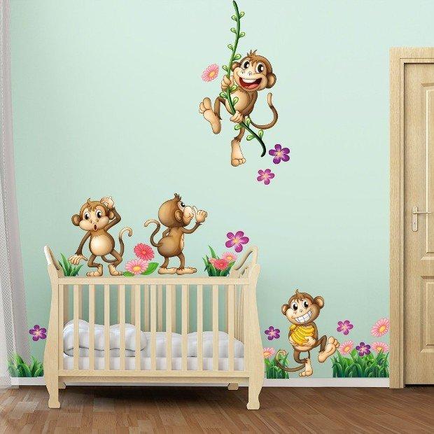 Adesivi murali bambini decorare la tua casa - Adesivi per mobili bambini ...