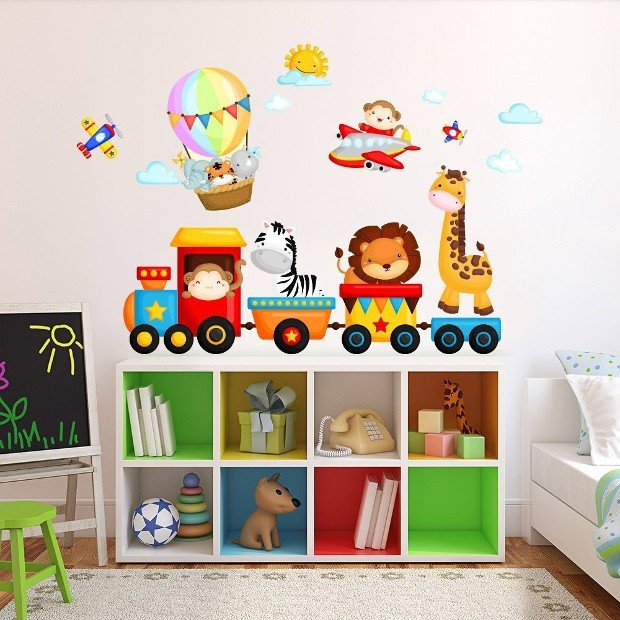 Adesivi murali per bambini 20 idee da acquistare online rose in the wind - Adesivi murali per camerette ...
