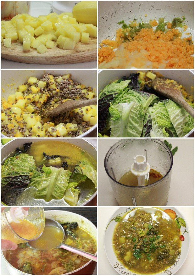 minestra lenticchie verza ricetta