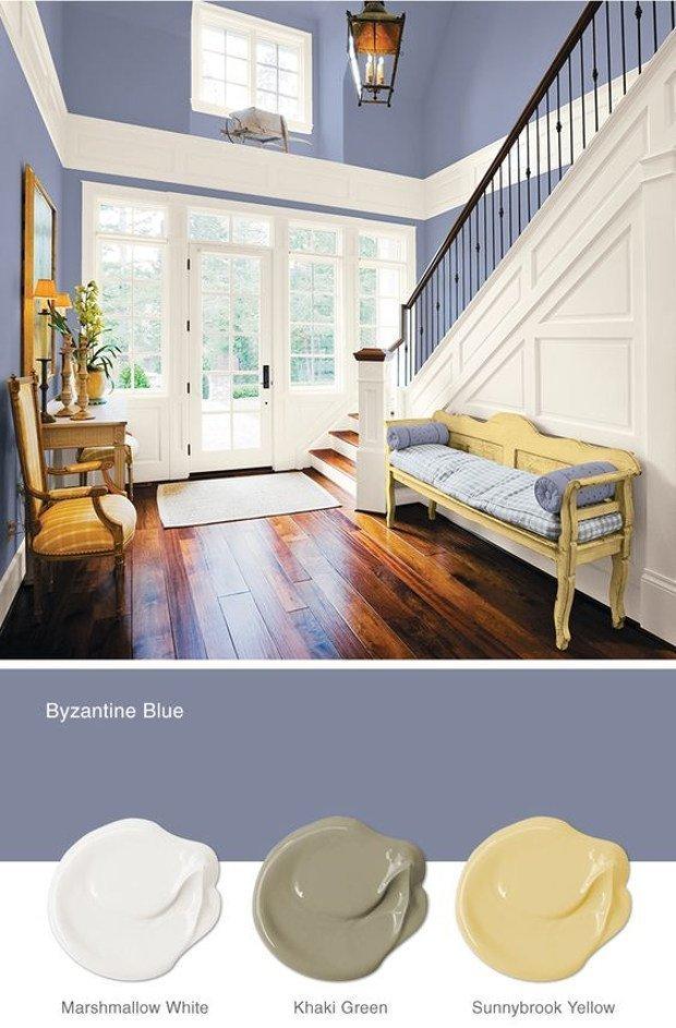 Colori moda pareti casa prova il byzantine blue rose - Colorare pareti casa ...
