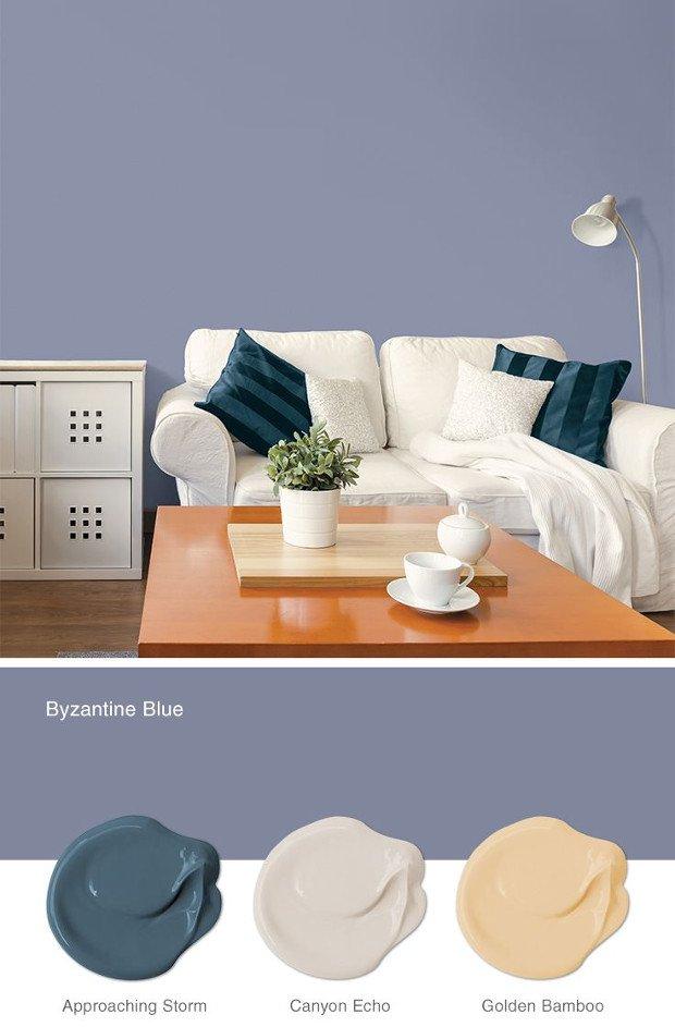 colori moda pareti casa prova il byzantine blue rose