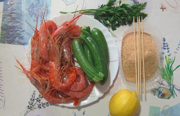 spiedini-di-gamberi-e-zucchine-ingredienti